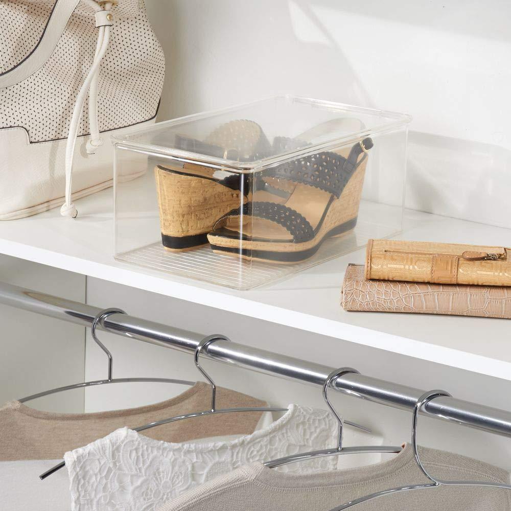 zapatillas deportivas Claro Caja organizadora para almacenamiento de calzado en el armario; organiza chatitas mDesign sandalias