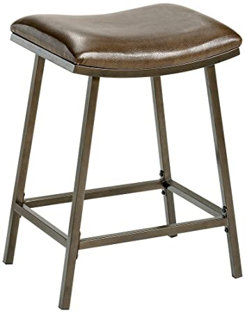 Hillsdale Saddle Counter/Bar Stool with Nested Leg Brown  sc 1 st  Amazon.com & Amazon.com: Hillsdale Saddle Counter/Bar Stool with Nested Leg ... islam-shia.org