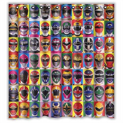 Custom Power Rangers Heads Waterproof Bathroom Shower Curtain Polyester Fabric Size 66 X 72 Amazoncouk Clothing