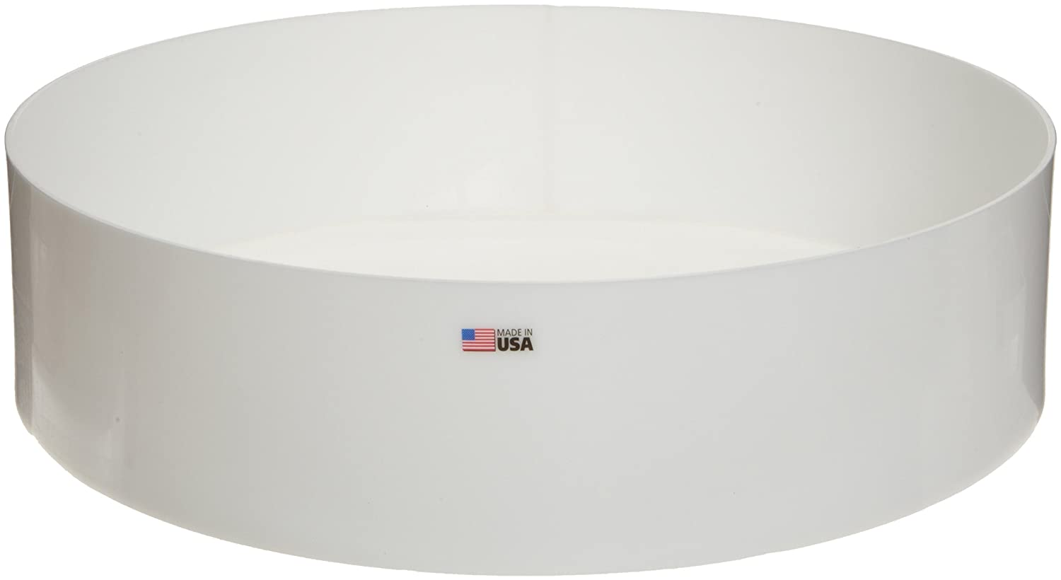 Dynalon 109834 Polyethylene (HDPE) Heavy Duty Round Lab Tray, 24' Diameter x 6' Depth 24 Diameter x 6 Depth DYNCR 109834