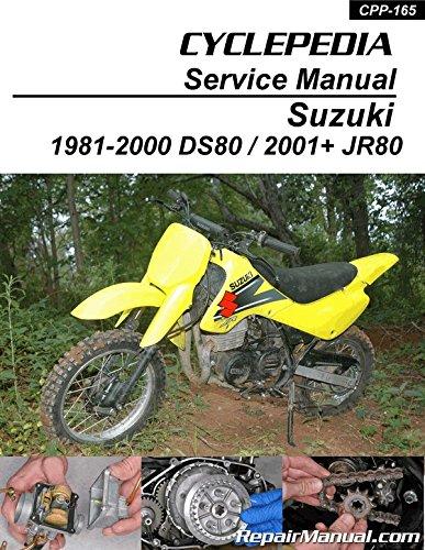 CPP-165-Print Suzuki DS80 JR80 Motorcycle Cyclepedia Printed Service Manual