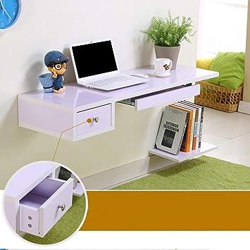 CWJ Mesa pequeña para el hogar Ordenador portátil de PC montado en la Pared para la