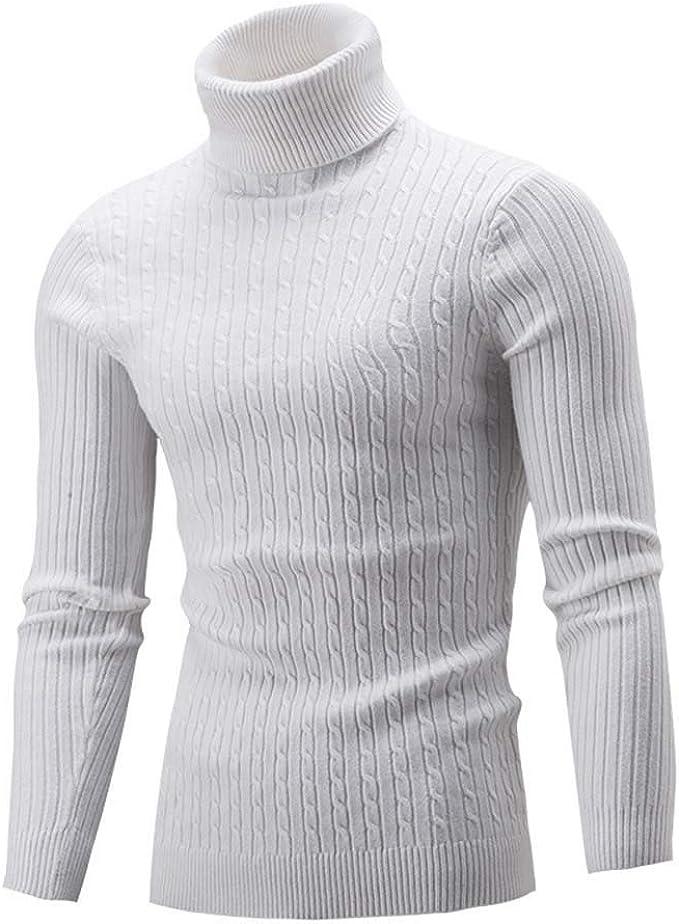 Homme Polo Col Haut Chaud Tricoté Vêtements Pull Pull à Manches Longues Pull