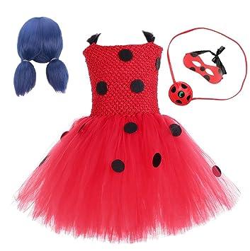 EMIN Niño Disfraz de Miraculous Ladybug para niña Cosplay ...