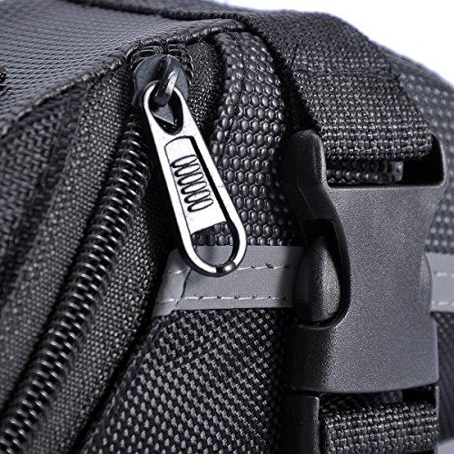 VALYRIA Fahrradtasche Rahmen Rohr Lenker Tasche Wasserdicht mit Reflexstreifen