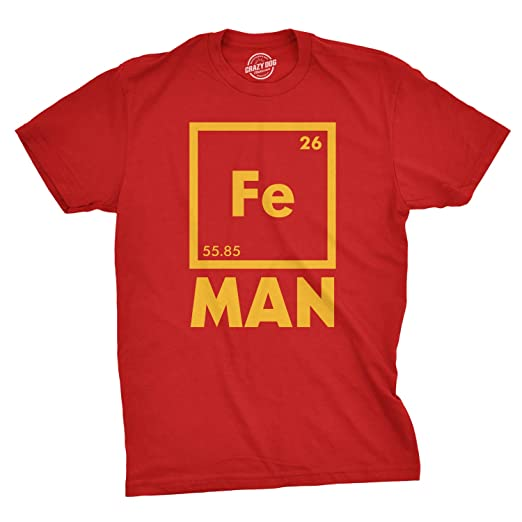 f65e08c9bf Mens Iron Man Science T Shirt Cool Novelty Funny Superhero Tee for Guys  (Red)