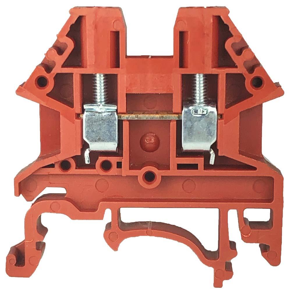 Dinkle DK2.5N-RD DIN Rail Terminal Blocks (Pack of 100)