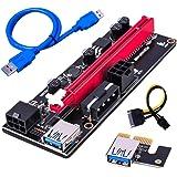 LDGG PCI-E Riser Adaptador Cartão 16X para 1X 6 Pinos Cabo de Alimentação SATA GPU Riser 60 cm Cabo de Extensão USB 3.0 Conec