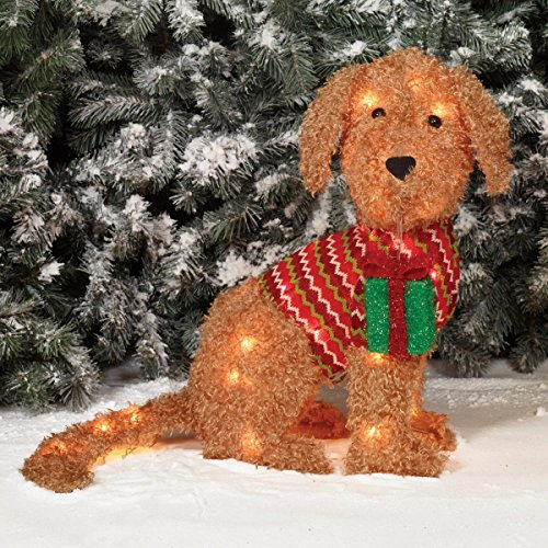outdoor dog christmas decorations amazoncom - Labrador Outdoor Christmas Decoration