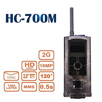 hc-700 m caza Trail Cámara 16 Mp Hd 1080P visión nocturna por infrarrojos cámara para ...