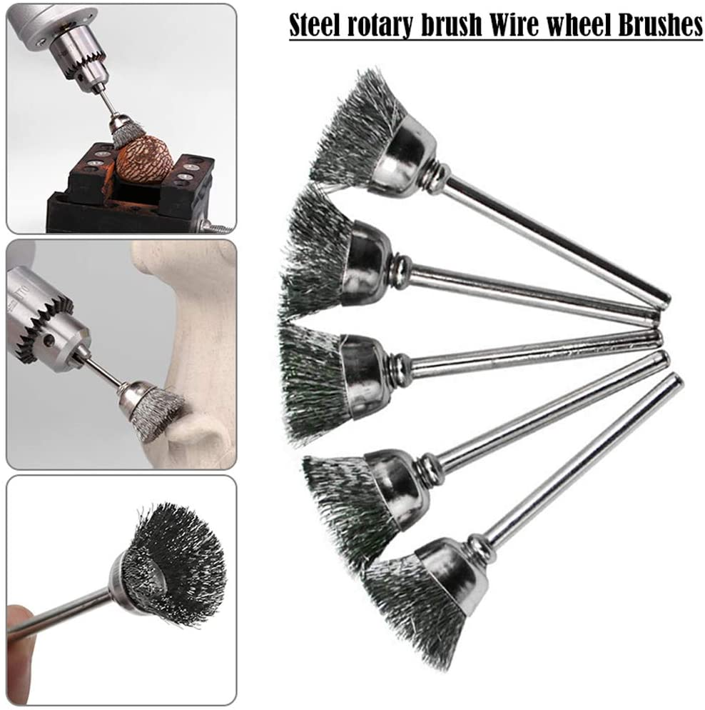 20X Stainless Steel Wire Brush Polishing Wheel For Rotary Tool Accessory