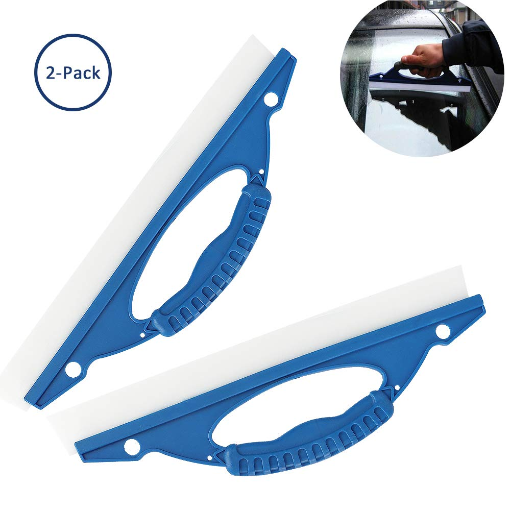 Cara Silicone Windscreen Wipers Car Wiper Glass Squeegee Blade Wash Window Water Dryer Squeegee Home Vehicle Windshield Window Wash Cleaning Accessories Tool 2PCS