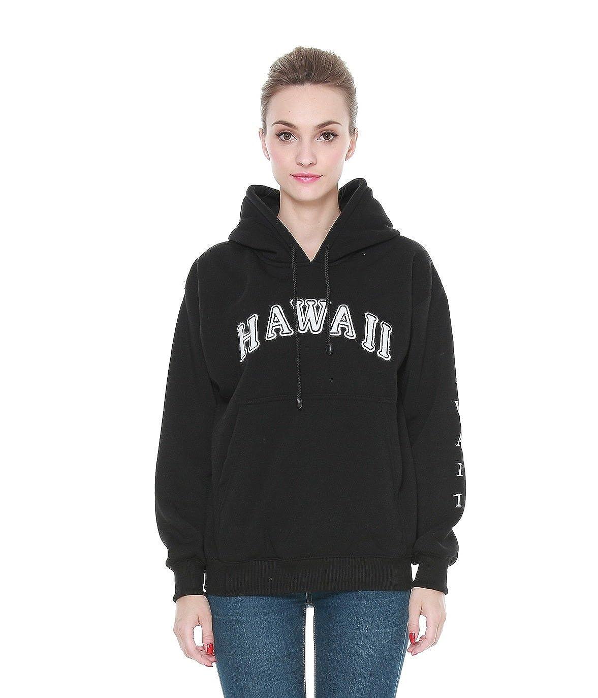 Erwachsene Unisex Hooded Hawaii Schwer Zur Seite fahren Fleece-Kapuzenpulli