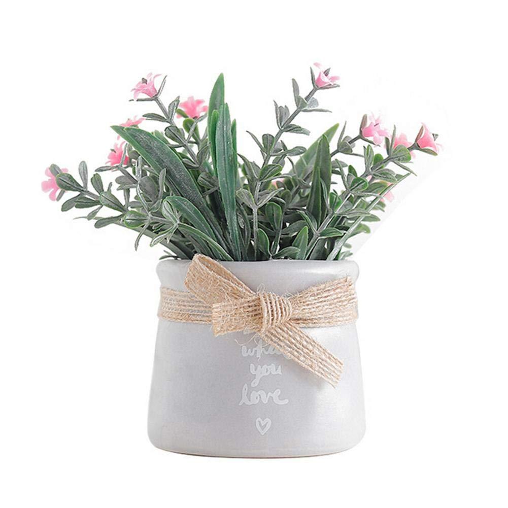 Yves25Tate Flor Artificial Estilo Rural Flor Artificial Flor Falsa peque/ños Adornos Bonsai hogar Sala de Estar Mesa decoraci/ón de la Boda Decoraciones