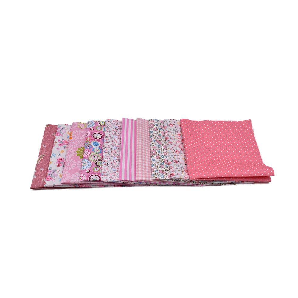 para patchwork Tela de algod/ón estampado a cuadrados 10 unidades costura y manualidades 20 x 20/cm Raylinedo/®