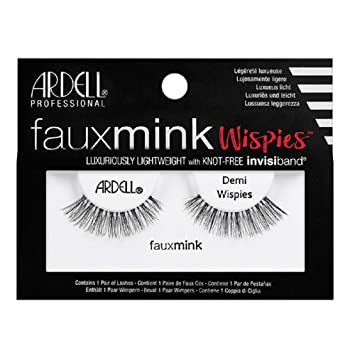 c8128f617f5 Amazon.com : Ardell Faux Mink Strip Lashes Demi Wispies : Beauty