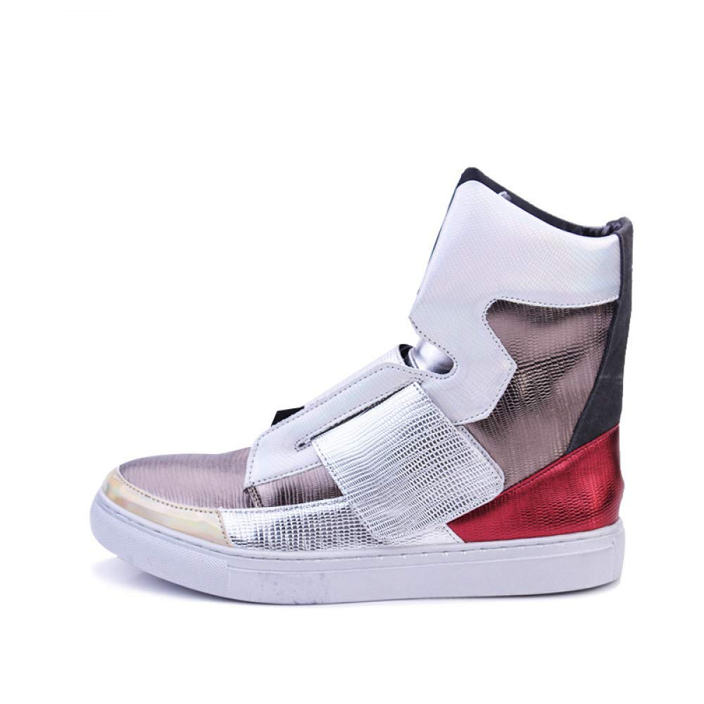 FHCGMX Männer Flache Hohe Top Skate Schuhe Mode Atmungsaktiv Lässig Zu Fuß Bunte Schuhe Britische Hip Hop Schuhe
