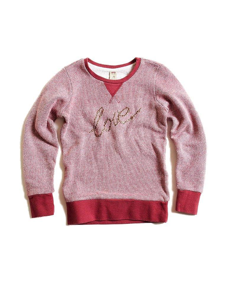 456 - Bordeaux 7-8 ans (hauteur  128 cm) voiturerera Jeans - Sweat-Shirt 869 pour Fille, Style imprimé, Taille Normale, Manche Longue