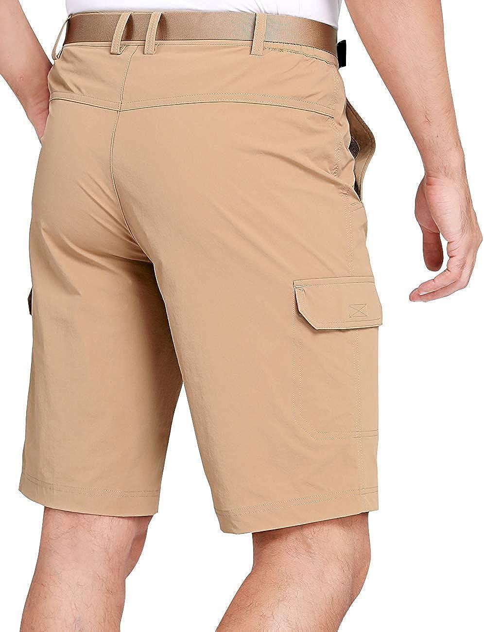 CAMEL CROWN Pantalon de Randonn/ée /à S/échage Rapide pour Hommes Short Cargo d/ét/é Convertible avec 6 Poches Pantalon de Travail de Voyage de P/êche en Trekking de Camping en Plein Air L/éger Respirant