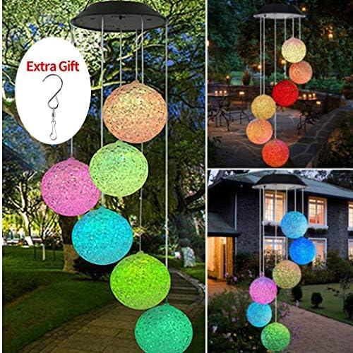 Luz LED solar de viento con espiral que cambia de color, lámpara ...
