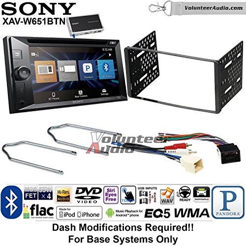 Volunteer Audio Sony XAV-W651BTN Double Din Radio Install Kit w/Bluetooth, Pandora, iPhone Control, USB, AUX, Navigation For 1999-2004 F-150, 2003-2008 E-150, 1998-2012 Ranger