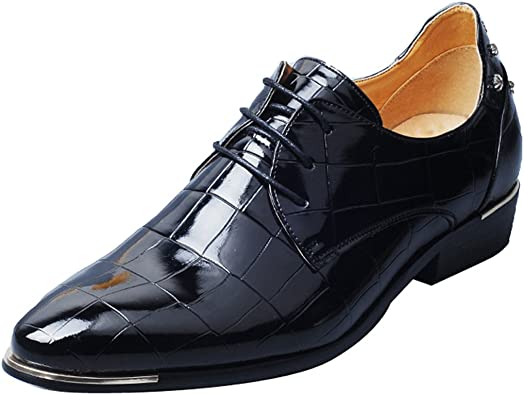 Dress Shoes for Men Fashion Mens Oxford Leather Lace up Classic Modern Business Formal Wedding Shoes