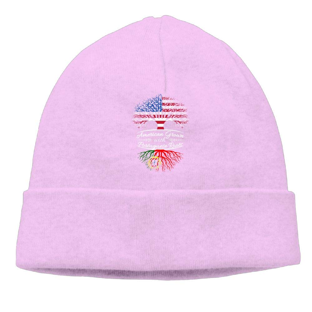 oopp jfhg Beanie Knit Hats Ski Caps American Grown Portuguese Roots Men Pink