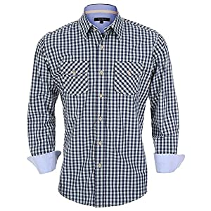 YEAR IN YEAR OUT Mens Button Down Shirts Long Sleeve Mens Dress Shirts Fitted