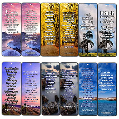 Release Stress and Anxiety KJV (60-Pack) - Handy Bible Verses About Releasing Stress and Anxiety Collection (Bible Verses About Stress And Worry Kjv)