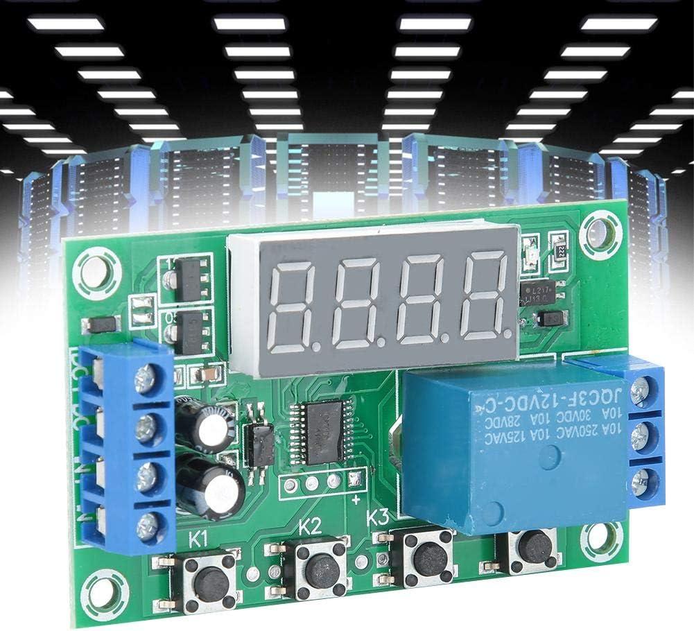 Temporizador de rel/é Programador multifuncional Programable Ciclo Temporizador Interruptor de retardo ajustable con pantalla LED