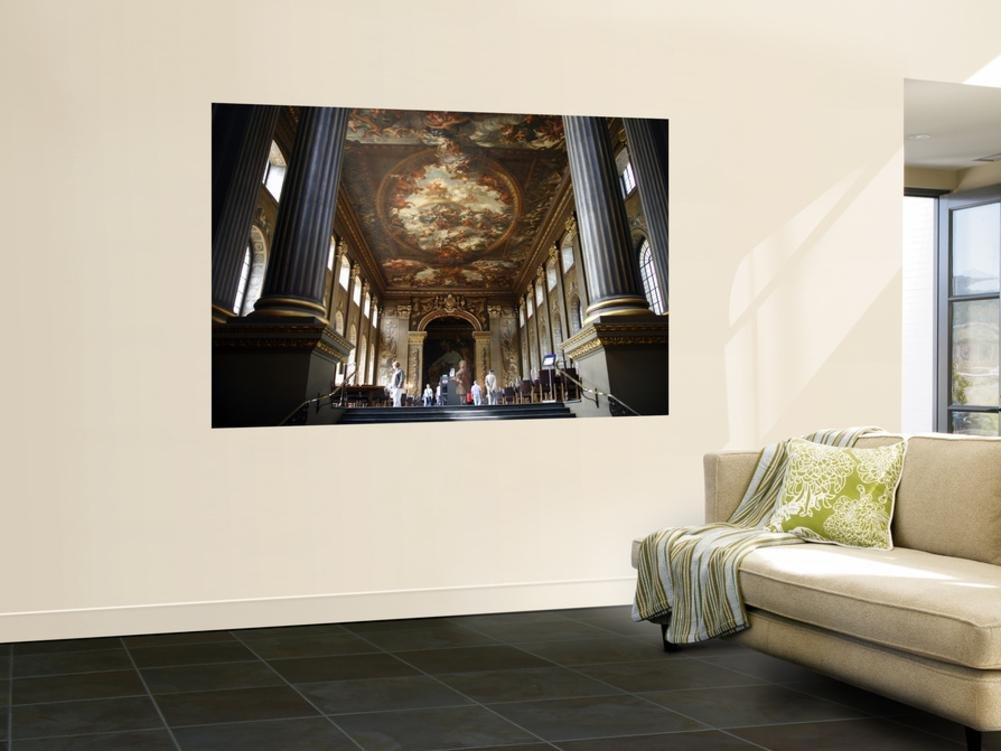 Interior of the Painted Hall at the Old Royal Naval College, Greenwich Wall Mural by Doug McKinlay 48 x 72in