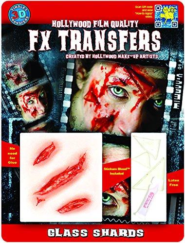 Tinsley Transfers  Glass Shards, Flesh/Multi, One Size -