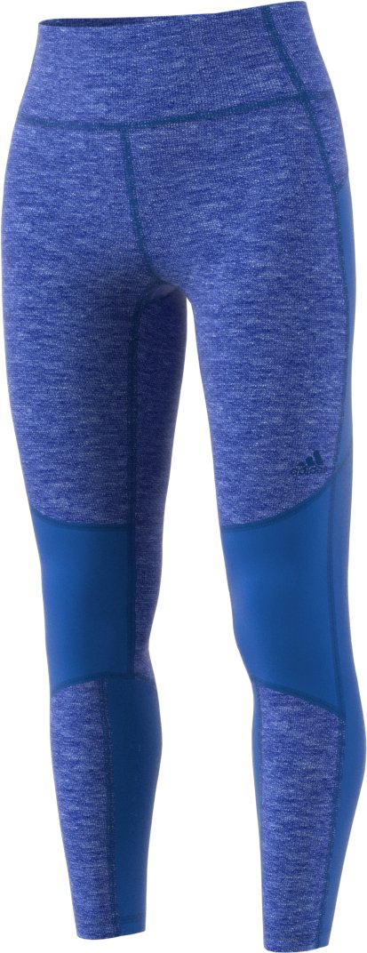 adidas Womens Believe This High-Rise 7/8 Soft Tights (Small, Heather Blue)