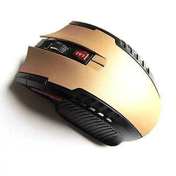 Xiton Ratones ópticos inalámbricos del Ratón del Juego de la Batería con el Receptor del USB para el Ordenador Portátil de la computadora Portátil Dorado: ...