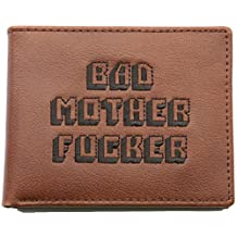 Official Pulp Fiction Movie Original Bad MF Brown Genuine Leather Embroidered Wallet