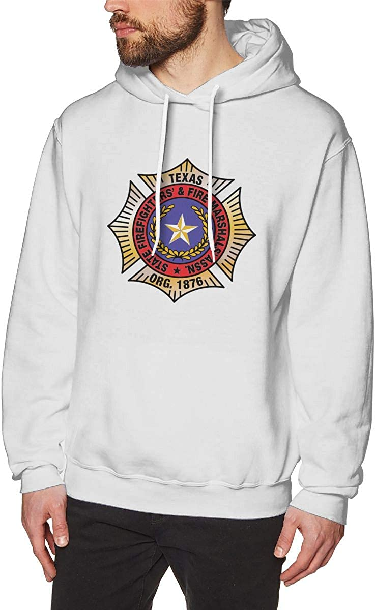Texas Firefighter Mens Hooded Sweatshirt Theme Printed Fashion Hoodie