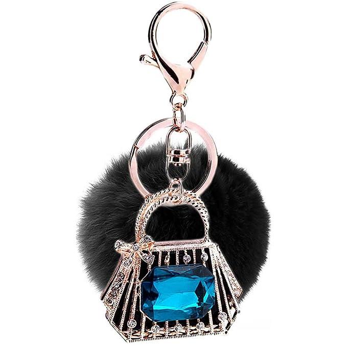 Cinlla Felpa De La Bola Sapphire Bag Colgante de cristal ...