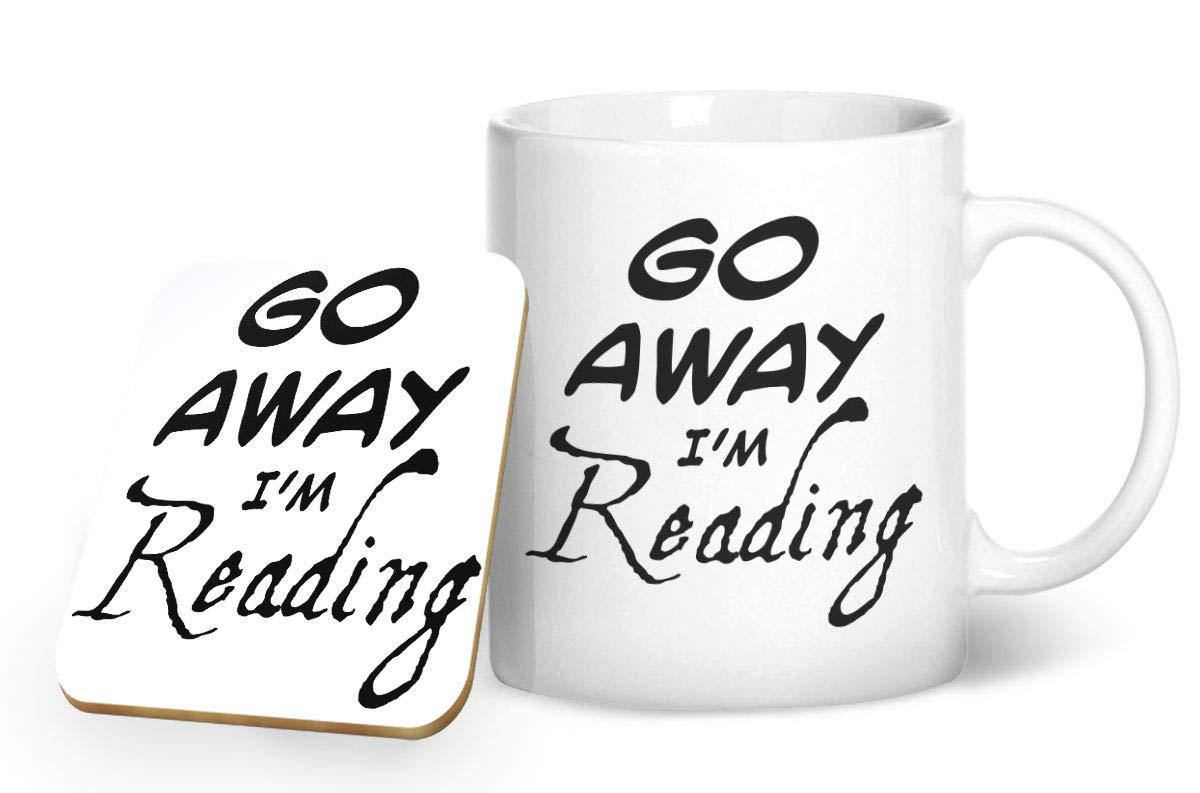 Go Away I m Reading tazza e sottobicchiere abbinati/ /stampato tazza /& sottobicchiere set regalo