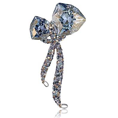 4de792a494 RAINBOW BOX Brooches for Women Fashion,Rhinestone from Swarovski Crystal  Jewelry Brooch Pins for Valentine Birthday Gifts