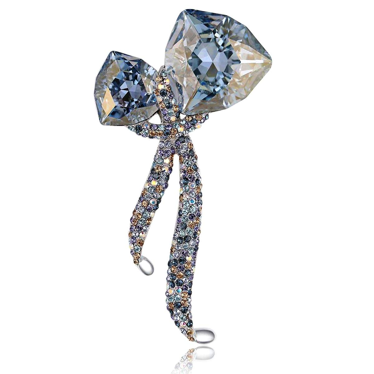 RAINBOW BOX Large Brooches for Women with Swarovski Crystal Jewelry Women's Brooches & Pins