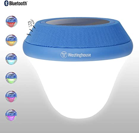 Amazon Com Westinghouse Solar Pool Light Bluetooth 5w Speaker Solar Floating Lamp Underwater Multi Color Change Led Lights For Swimming Pool Pond Tub Or Party Decorations 1 Pack Garden Outdoor
