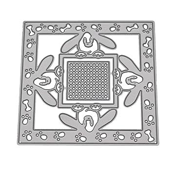 zmigrapddn Troqueles,Diseño de la flor del perro Troqueles de corte plantilla moldes para hacer álbumes de recortes Álbum Tarjeta de papel Artesanía, ...