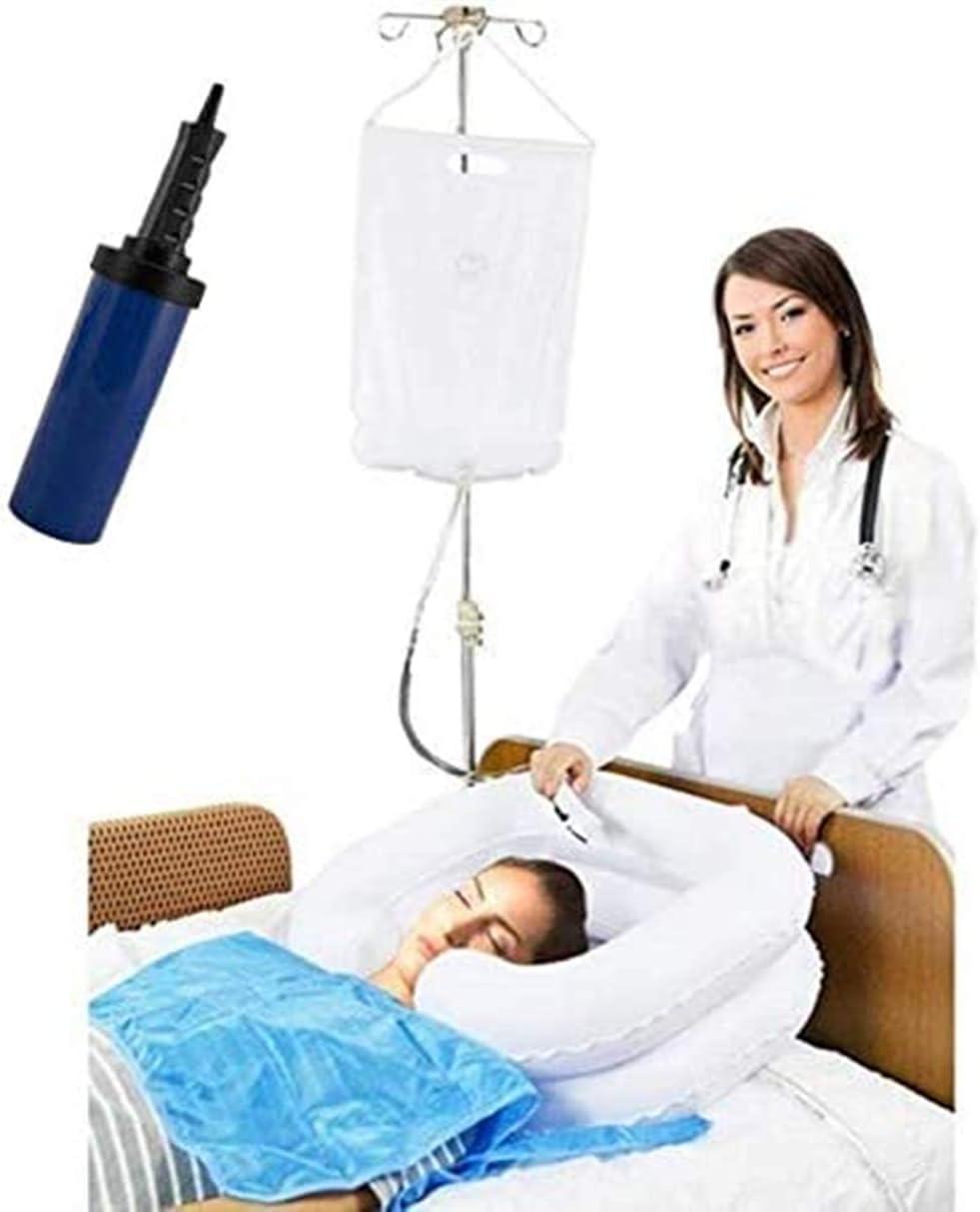 Sistema de ducha para mesita de noche, kit de champú inflable para cama de anciano, fácil de desactivar, embarazo, cama (juego de 6)