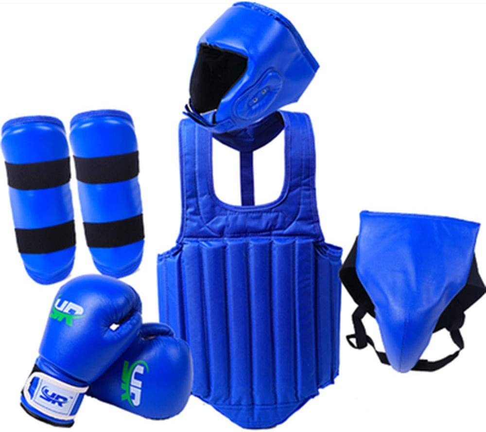 Taekwondo MMA Is Very Suitable For Muay Thai suitable For Height 140-160cm M Code Etc Groin Protector ZLBZBB Boxing Headgear Leg Shield Glove Chest