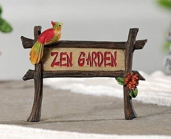 Yote miniatura jardín de hadas jardín Zen Parrot Sign 706482: Amazon.es: Hogar