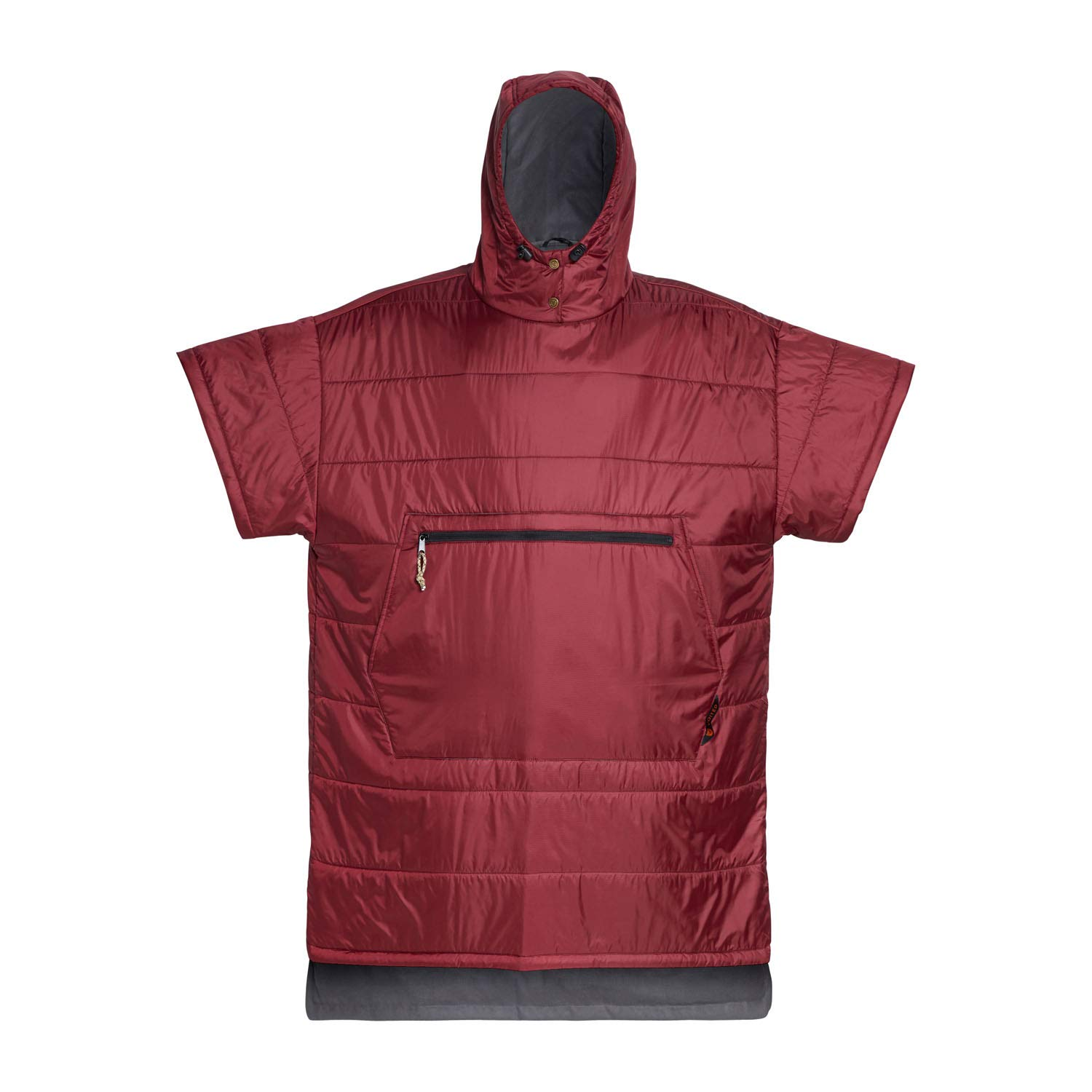 VOITED Surf Poncho (Wetsuit Change Robe) - Absorbent Microfiber Towel on The Inside, Water-Resistant Ripstop on The Outside - Stay Warm and Dry Before and After Surfing (Oxblood, S/M) by VOITED