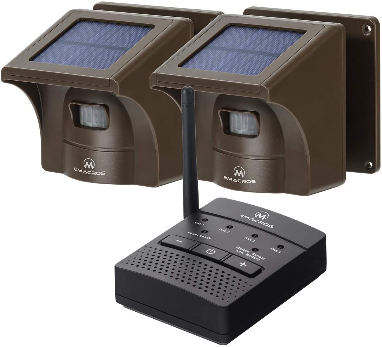 1/2 Mile Solar Driveway Alarm Sytem Wireless Long Range Outdoor Weather Resistant Motion Sensor & Detector- Driveway Alarms Wireless Outside Monitor & Protect