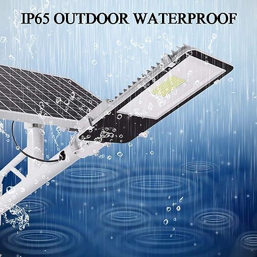 Rmckj-M Farola Solar 100W Proyector De Exterior Luz De Seguridad De Alto Brillo con Control Remoto Lámpara De Ingeniería A Prueba De Agua IP65 Apta para Jardines Iluminación De áreas De Carretera: