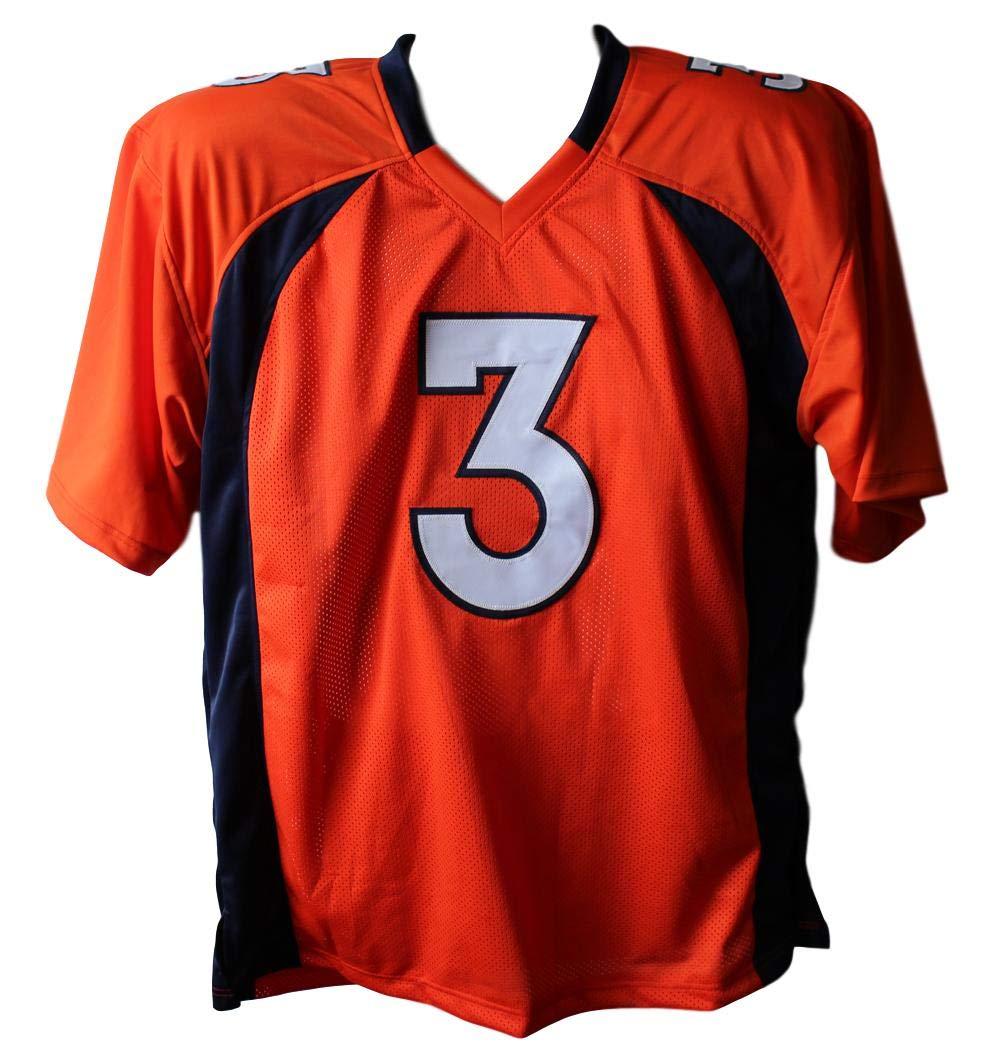 Drew Lock Autographed//Signed Denver Broncos Orange XL Jersey BAS