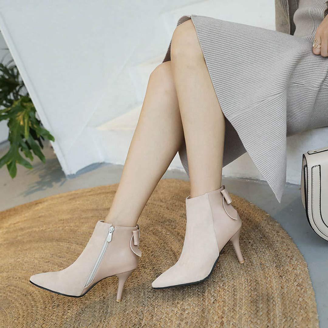 OLADO Winter Damen Stiefeletten Hohe dünne Ferse Spitze Spitze Spitze Zehe-Elegante reizvolle Damen Short Stiefel 210552